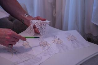 proposition de croquis de robe de mariée sur-mesure bretagne.